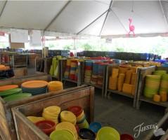 Columbus Fiesta Dinnerware Tent Sale