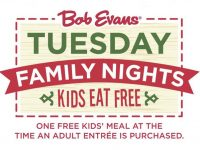 Kids Eat Free Family Night at Bob Evans