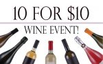 Refectory 10 for $10 Wine Events