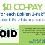 2014 Free Epi-pen Co-pay