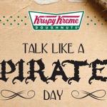 Free Krispy Kreme on Talk Like a Pirate Day