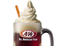 Free root beer float at A+W Restaurants