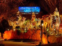 State Auto Christmas Display and Life-Sized Nativity