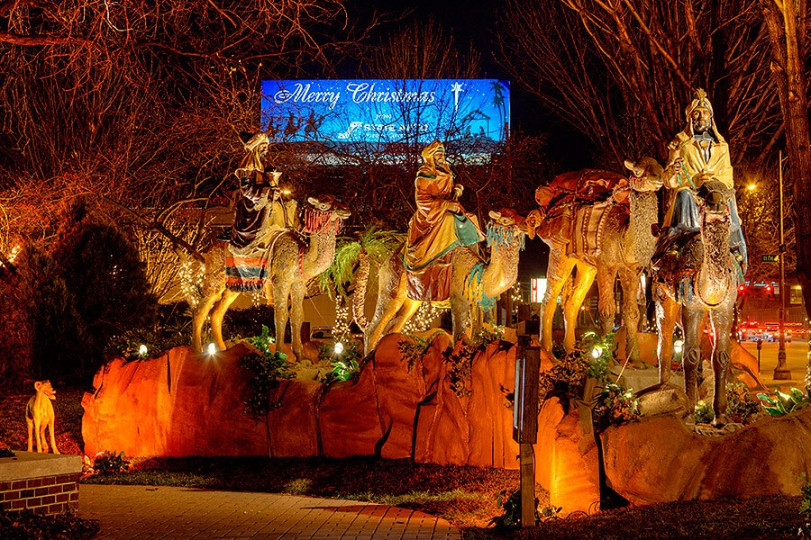 State Farm Auto Insurance >> State Auto Christmas Display and Life-Sized Nativity
