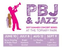 PBJ and Jazz free kids concerts at Topiary Park