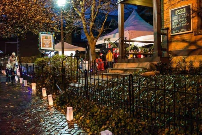 luminaries will line the streets to lead you from shop to shop for christmas shopping and other fun experiences along the way the shops are open late with