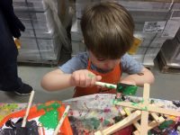 Home Depot Free Kids Workshop: Fire House Bank