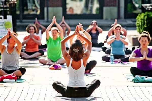 Free Fitness Yoga on the Square at Easton