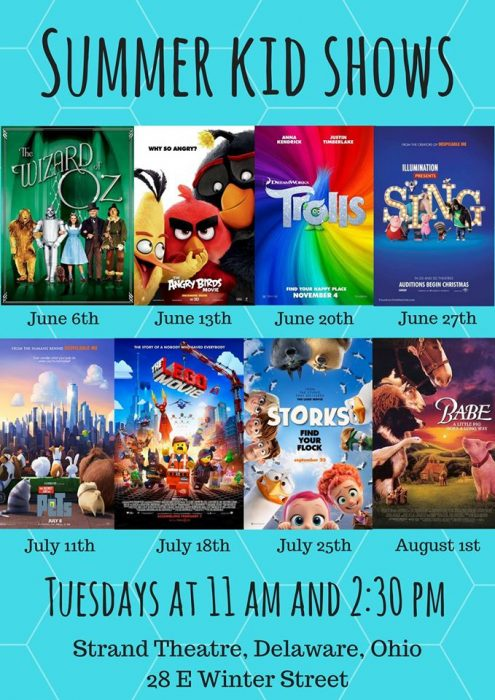 Free Summer Kids' Movies at Strand Theatre