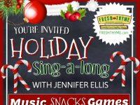 Jennifer Ellis Sing-a-long parties at Fresh Thyme stores