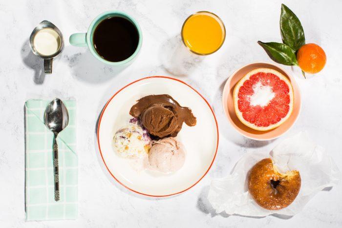 Jenis Ice Cream for breakfast