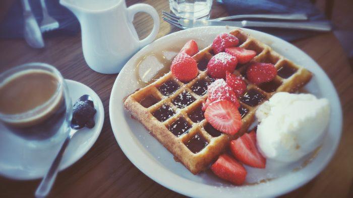 waffle ice cream breakfast pixabay