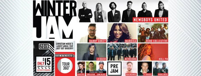 $15 Admission to Christian Music Winter Jam Tour Spectacular