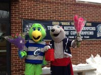 Columbus Clippers Krash and LouSeal