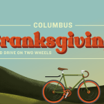 Cranksgiving Columbus Food Drive powered by bikes benefits CRC Food Pantry